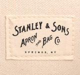 Stanley & Sons - Standard Logo Tote, Natural / Red Logo -