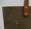 Small Coal Bag, Flood Printed Olive Canvas