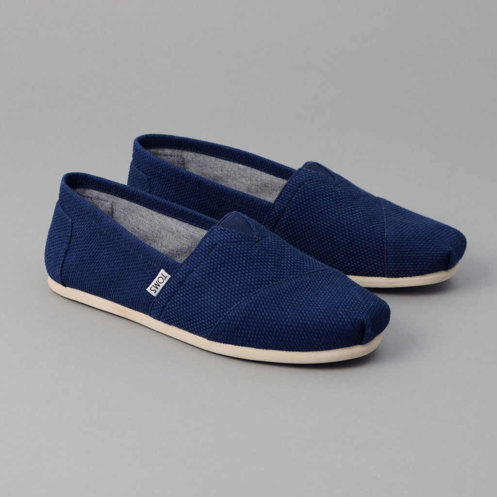 TOMS - TOMS x The Hill-Side Men's Classic, Lightweight Indigo Sashiko -