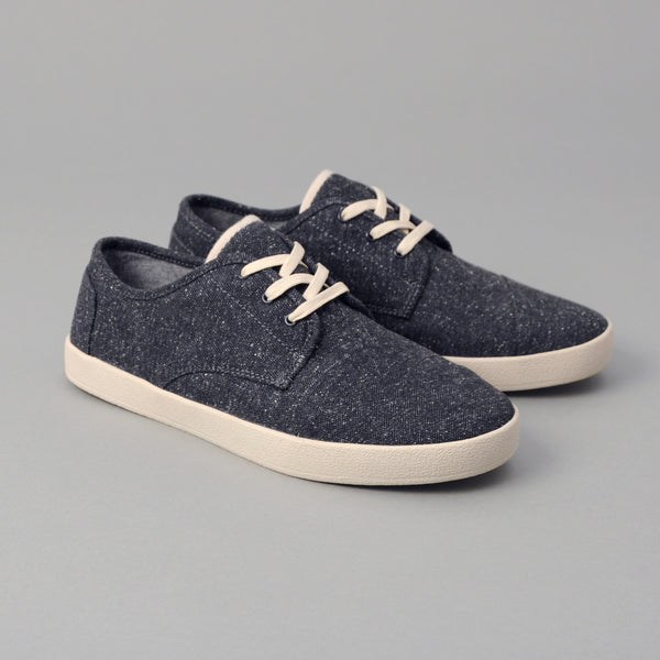 TOMS - TOMS x The Hill-Side Men's Paseo, Navy Herringbone Tweed -