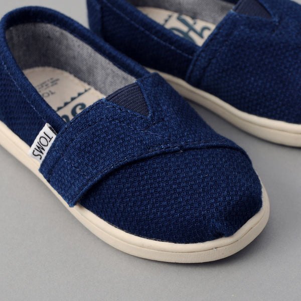TOMS - TOMS x The Hill-Side Tiny Classic, Lightweight Indigo Sashiko -