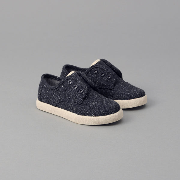 TOMS - TOMS x The Hill-Side Tiny Paseo, Navy Herringbone Tweed -