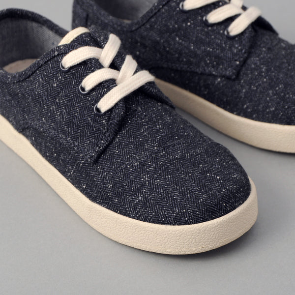 TOMS - TOMS x The Hill-Side Youth Paseo, Navy Herringbone Tweed -