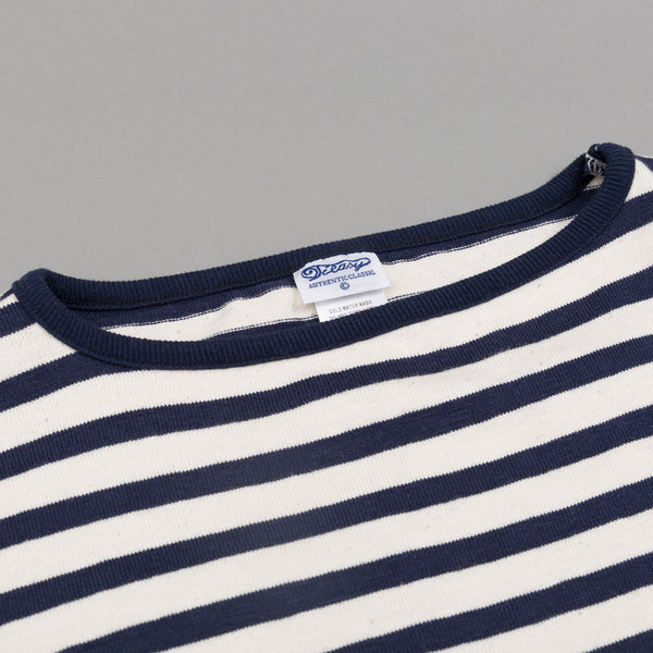 Teasy - High-Density Cotton Basque Shirt, Natural / Navy Border Stripe - image 2