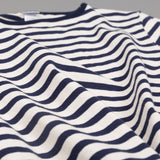 Teasy Basque Shirt, Natural / Navy Border Stripe