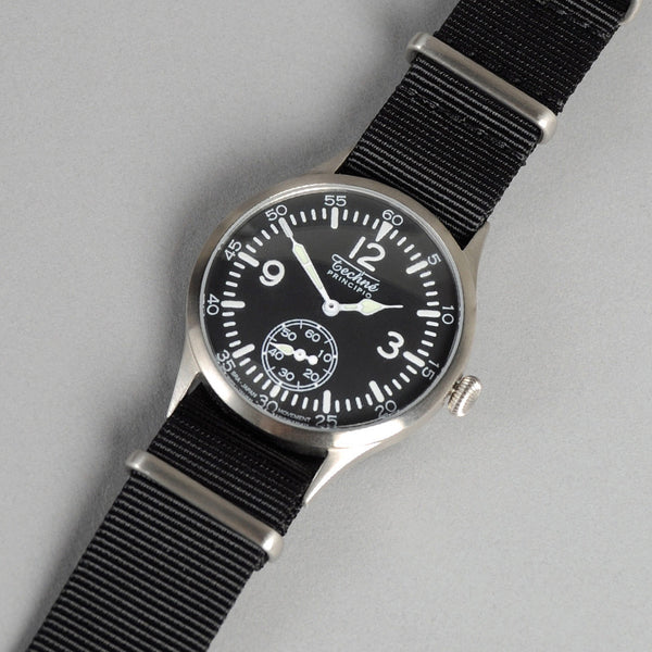 "Techne Instruments ""Merlin"" 246 Watch, Black NATO Nylon Strap"