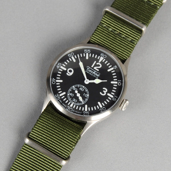 "Techne Instruments ""Merlin"" 246 Watch, Olive NATO Nylon Strap"