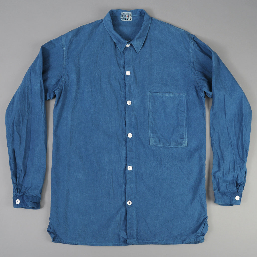 Tender Co. Square Tail Long Sleeve Shirt, Woad Calico