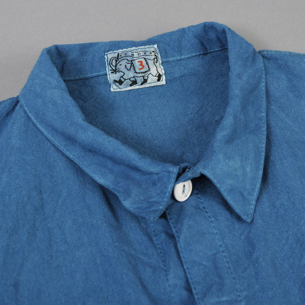 Tender Co. - Square Tail Long Sleeve Shirt, Woad Calico - image 2