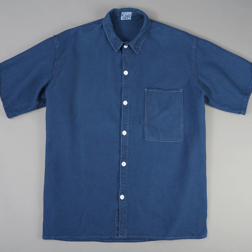 Tender Co. Square Tail Short Sleeve Shirt, Beekeeper's Cloth, Woad