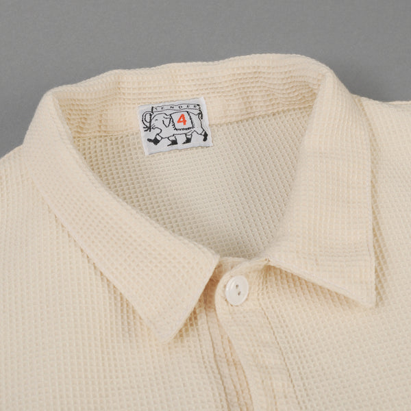 Tender Co. - Type 429 Square Tail Short Sleeve Shirt, White Beekeepers Cloth - image 2