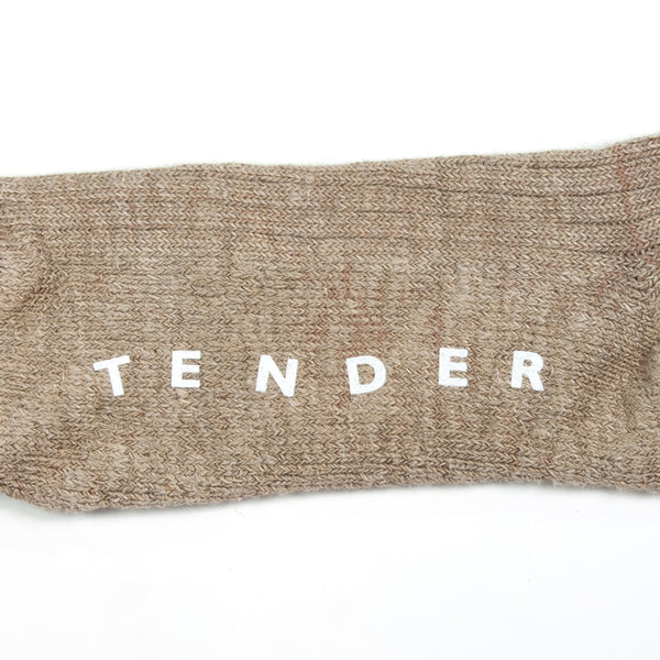 Tender Co. - Type 007 Hand Linked Socks, Rinse Linen