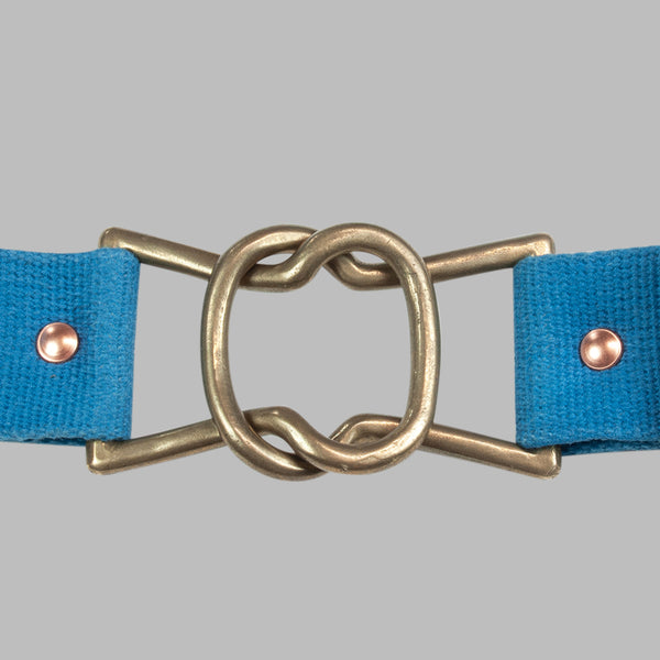 Tender Co. Type 209 Keyholes Buckle Webbing Belt, Woad