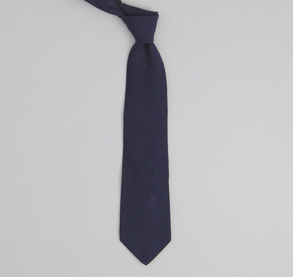 The Hill-Side 183 - Nep Twill Flannel Necktie, Navy
