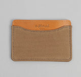 The Hill-Side - 2/2 Herringbone Twill Card Case, Dark Tan - CC1-193 - image 1