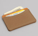 The Hill-Side - 2/2 Herringbone Twill Card Case, Dark Tan - CC1-193 - image 2