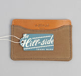 The Hill-Side - 2/2 Herringbone Twill Card Case, Dark Tan - CC1-193 - image 4