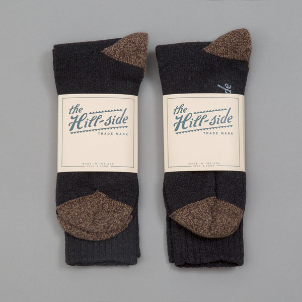 The Hill-Side - 2-Pack Socks, Black - SX10-04 - image 1