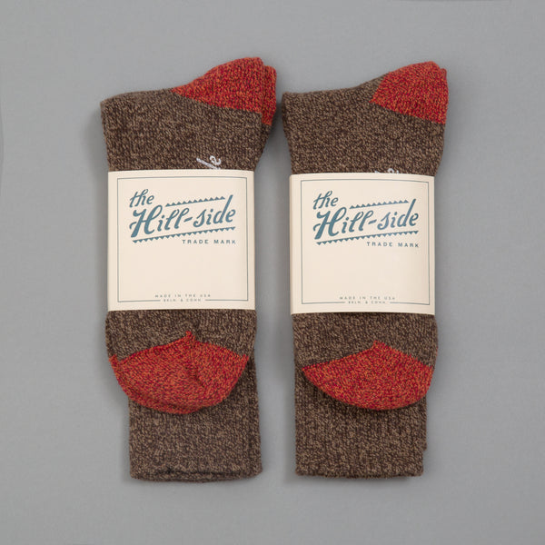 The Hill-Side - 2-Pack Socks, Brown - SX10-03 - image 1