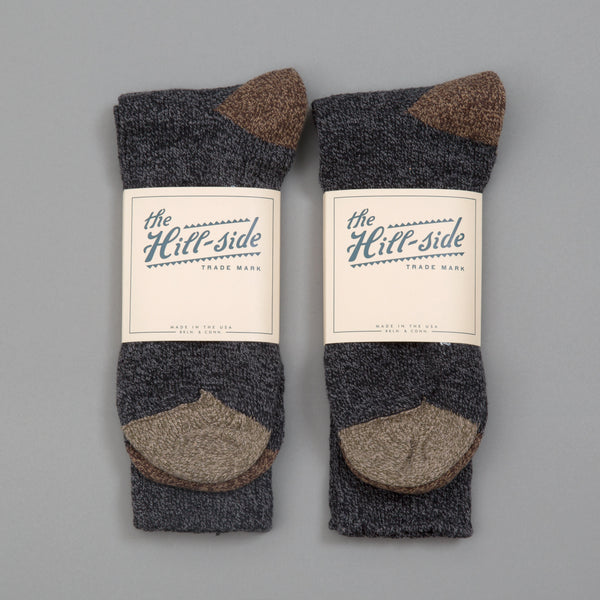 The Hill-Side - 2-Pack Socks, Charcoal - SX10-05