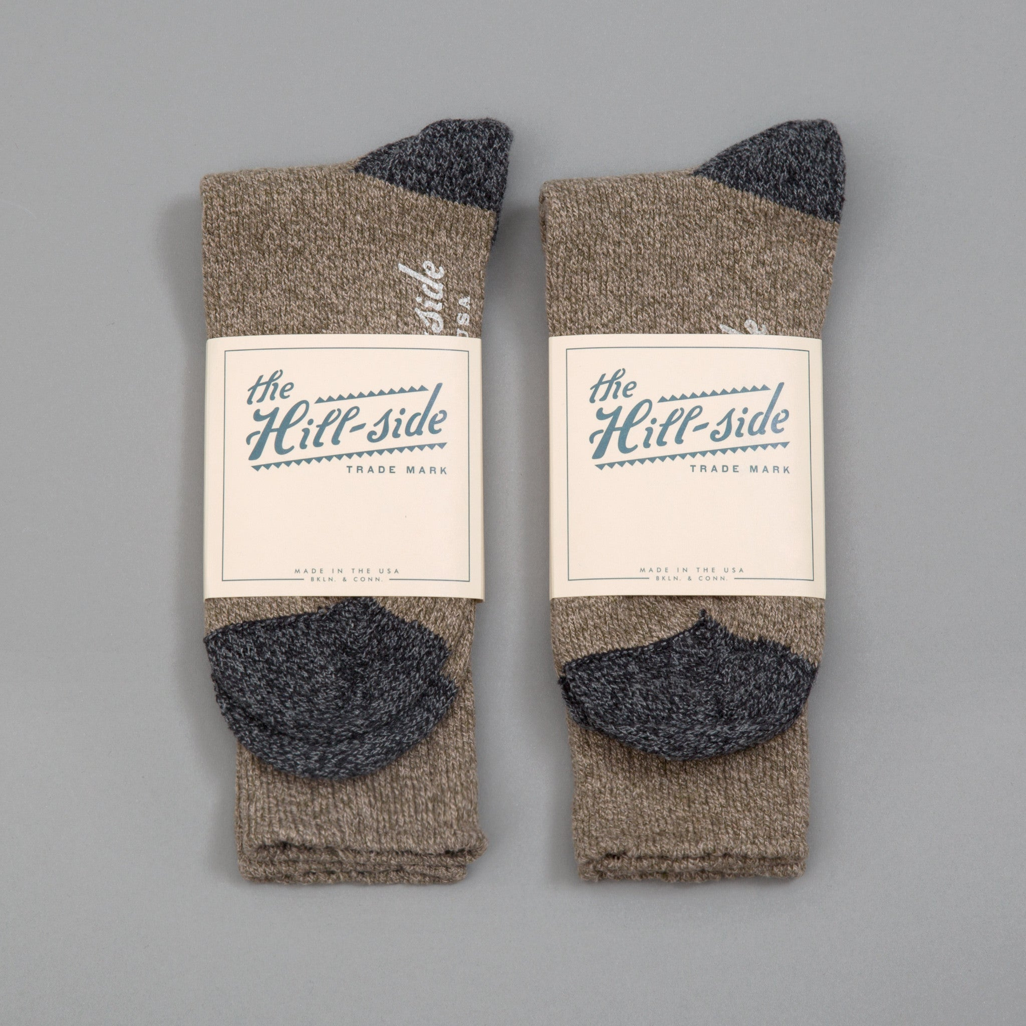 The Hill-Side - 2-Pack Socks, Olive - SX10-02 - image 1