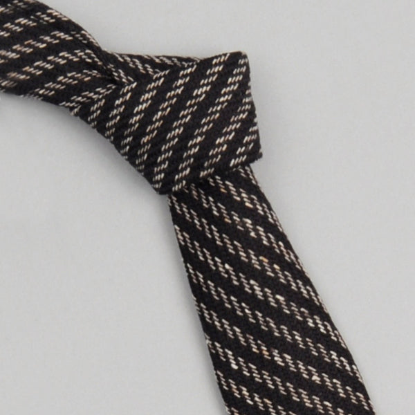 The Hill-Side 202 - Beach Cloth Necktie, Black/Beige