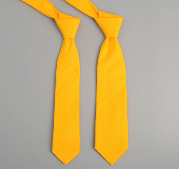 The Hill-Side 229 - Overdyed Soft Oxford Necktie, Yellow