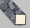 The Hill-Side 269 - Cotton / Linen Jacquard Aloha Necktie, Indigo
