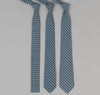 The Hill-Side 293 - Selvedge Square Check Chambray Necktie, Indigo / White