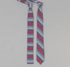 The Hill-Side 295 - TH-S Mills Selvedge Waterfall Stripe Chambray Necktie, Red / Dark Indigo