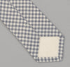 The Hill-Side 329 - Selvedge Covert Gingham Chambray Necktie, Indigo / White