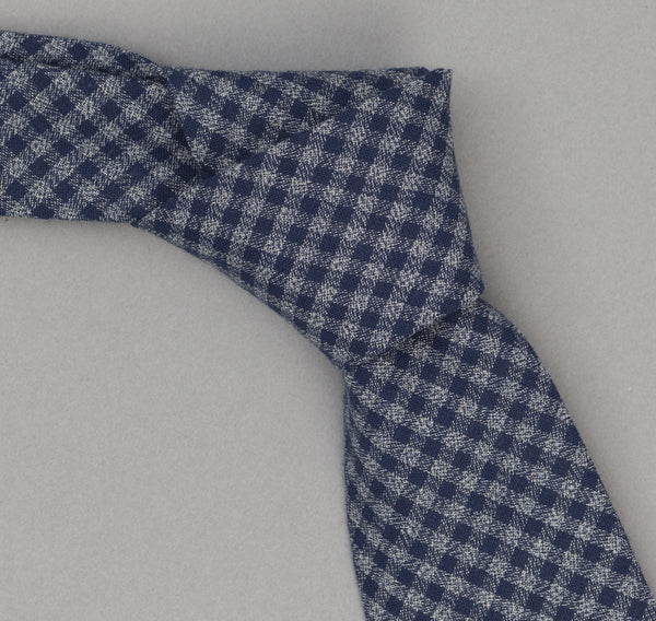 The Hill-Side - 330 - Selvedge Covert Gingham Chambray Necktie, Indigo / Indigo - PT1-330 - image 1