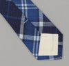 The Hill-Side 334 - Selvedge Indigo Madras Large Check Necktie, Indigo Base