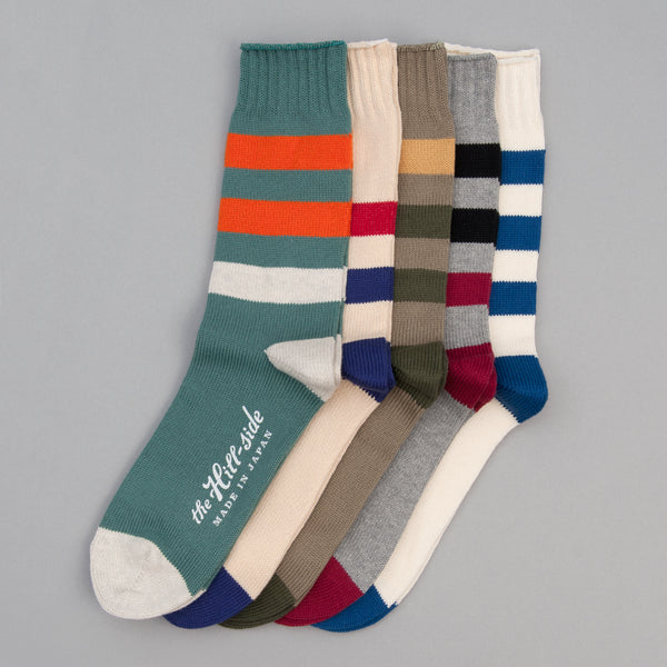The Hill-Side - 5-Pack, Tokyo Bus Lines Socks - SX10-08 - image 1