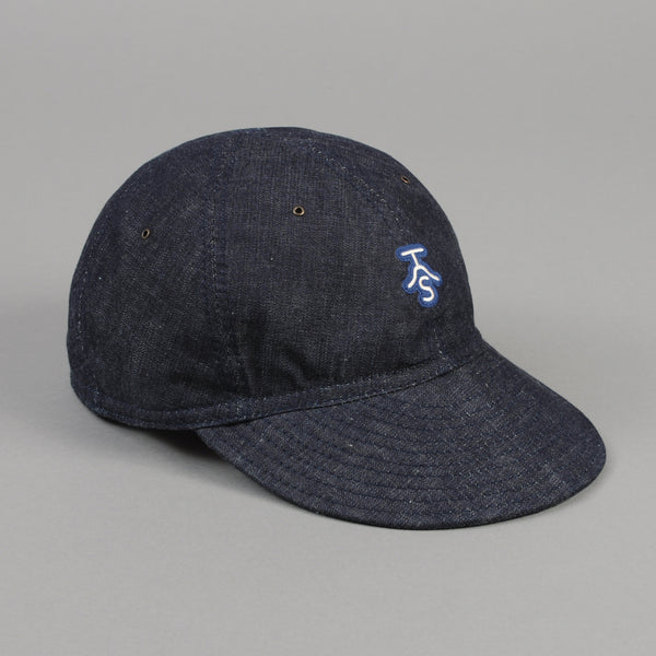 The Hill-Side Ball Cap, Lightweight Weft-Slub Selvedge Denim w/ Small Rancher Logo