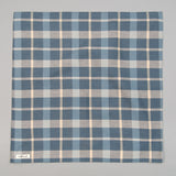 The Hill-Side Bandana, Sulphur-Dyed Flannel Check, Slate Blue