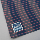 The Hill-Side - Bandana, TH-S Mills Navy Warp Large Grid Check, Beige & Coral - BA1-371 - image 3