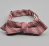The Hill-Side Basketweave Twill Stripe Bow Tie, Burgundy