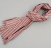 The Hill-Side Basketweave Twill Stripe Large Scarf, Burgundy