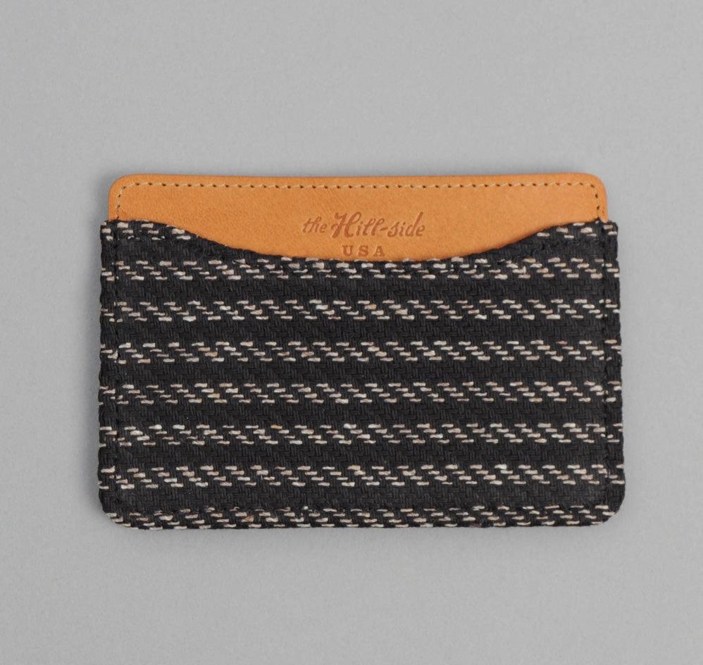 The Hill-Side - Beach Cloth Stripe Card Case, Black / Beige - CC1-202 - image 1
