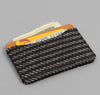 The Hill-Side - Beach Cloth Stripe Card Case, Black / Beige - CC1-202 - image 2