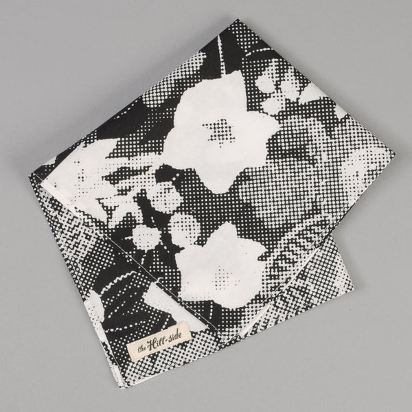 The Hill-Side - Big Halftone Floral Print Pocket Square - PS1-447 - image 1