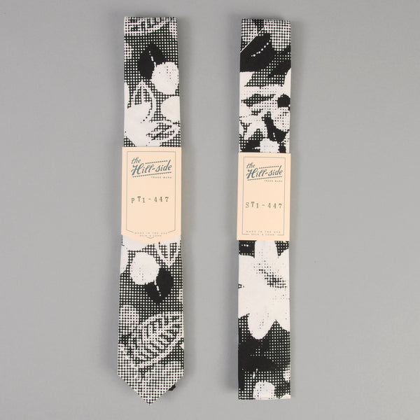 The Hill-Side - Big Halftone Floral Print Tie - PT1-447 - image 2