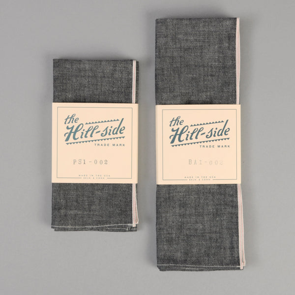 The Hill-Side - Black Chambray Pocket Square - PS1-002 - image 2