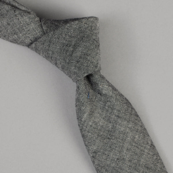 The Hill-Side Black Chambray Tie