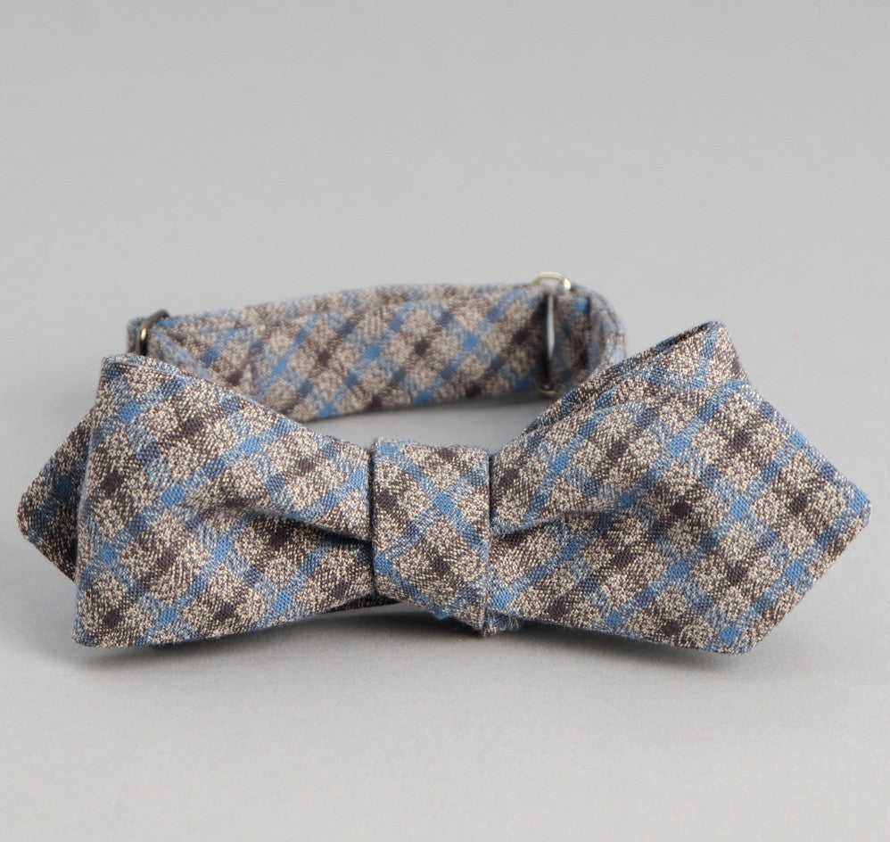 The Hill-Side Black & Tan Covert Gun Check Bow Tie