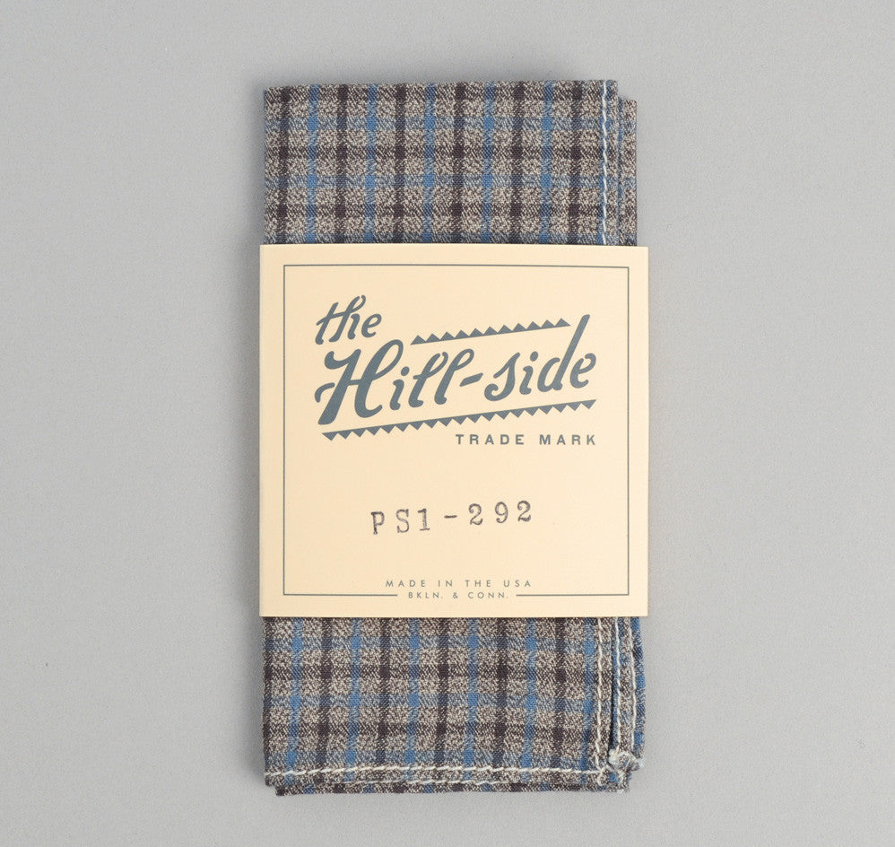 The Hill-Side - Black & Tan Covert Gun Check Pocket Square - PS1-292 - image 1