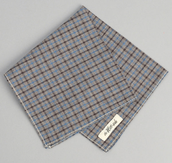 The Hill-Side Black & Tan Covert Gun Check Pocket Square