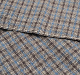 The Hill-Side - Black & Tan Covert Gun Check Pocket Square - PS1-292 - image 3