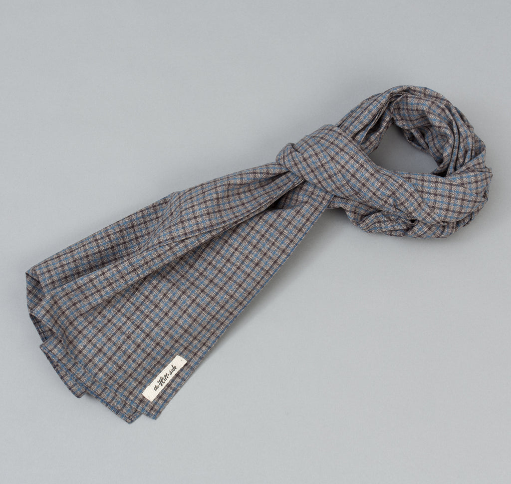 The Hill-Side - Black & Tan Covert Gun Check Scarf - SC1-292 - image 1